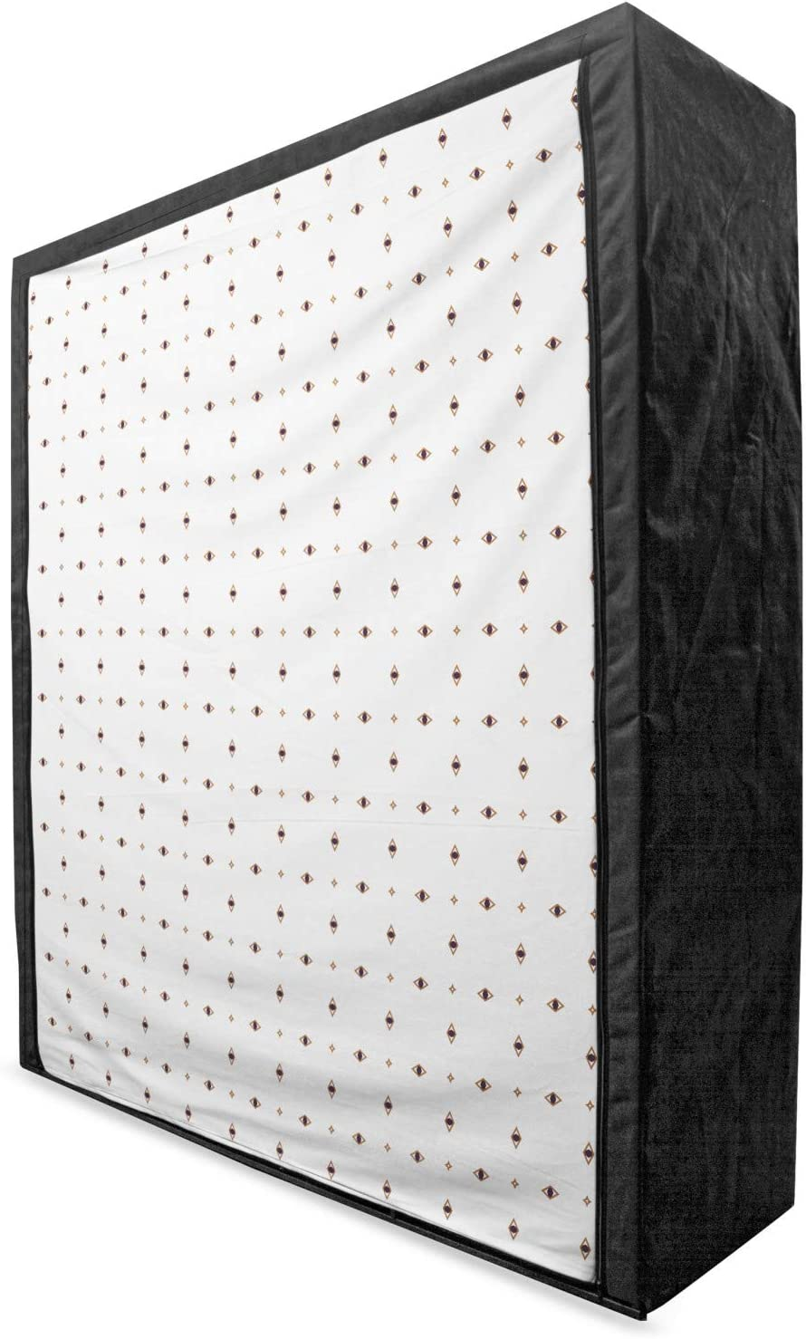 sold out Ambesonne Geometrical Portable Fabric Wardrobe Mail order cheap Minimalist Conce