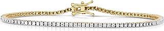 Femme Luxe 1.00 Carat Lab-Grown Diamond Tennis Bracelet for Women, 14K Yellow or White Gold, Diamond Color: E-F, Clarity: ...
