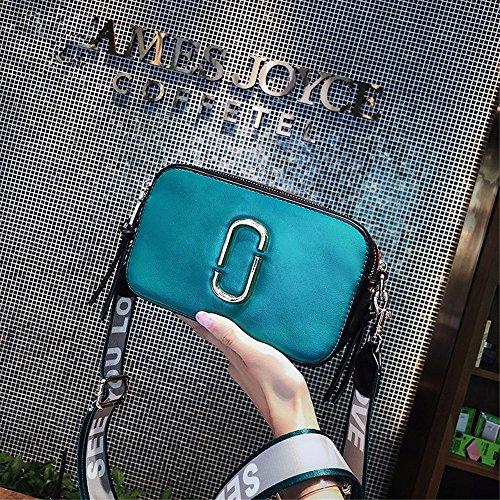 Schoudertas, vintage, nonchalant, voor dames, kleine clutch, schouderriem, cross-body tassen met vele zakken gemaakt van zacht PU-leer, grote capaciteit, blauw