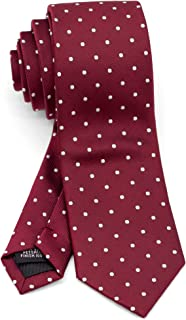 Men's Slim Skinny Tie Necktie Width 2.4 inches Washable Polka Dot and Small Pattern