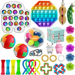 SFM Sensory Fidget Toys Set, for Adults and Kids, Stress Relief and Anti Anxiety Toys, Cool Fidget Toys Set 29 pcs, Safe F...