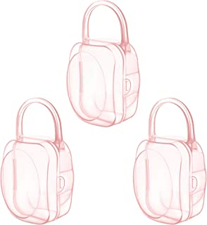 LANEYLI Pacifier Case Pacifier Holder Binky Holder Case Pacifier Box for Diaper Bag Home Travel Outdoor Activities 3 Pack ...