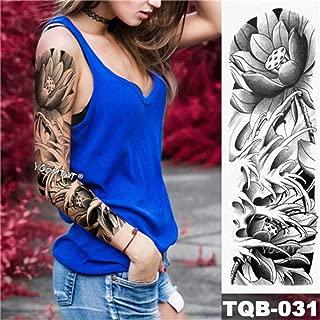 Brazo grande manga tatuaje arte python impermeable tatuaje ...