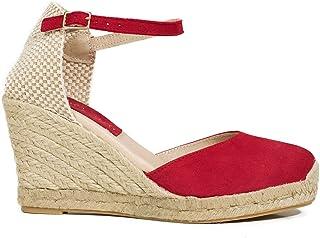 8885bcf4 Amazon.es: cuñas esparto - Rojo / Zapatos para mujer / Zapatos ...