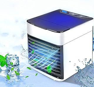 【2021年最新バージョン】冷風扇 扇風機 冷風機 卓上冷風機 卓上クーラー エアコンファン ポータブルエアコン小型クーラー 小型冷風扇 漏水防止 気化式冷風機 小型 空気浄化 加湿機能 冷却機能 氷いれ可能 角度調整可能 移動ミニエアコン 防...
