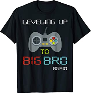 Big Brother Again Shirt Leveling up to Big Bro-Gaming Gift