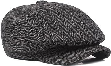 Gysad Sombrero de Invierno Vintage Newsboy Hat Otoño e Invierno Boina de Hombre Estilo literario Sombrero Mujer
