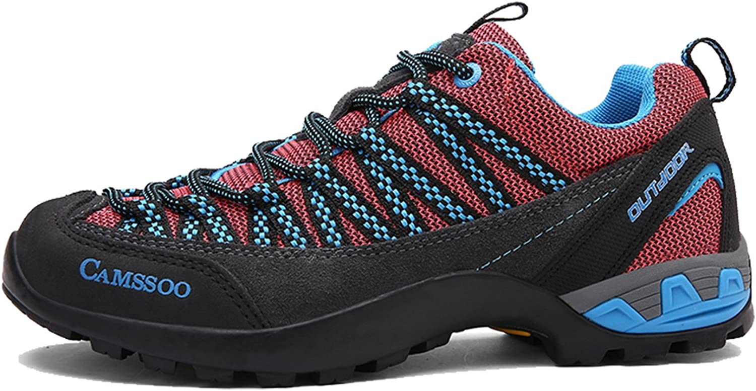 CAMSSOO Womens Outdoors Mesh Leather Thermal Anti-Slip Hiking Running shoes