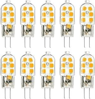 KingSo G4 LED Bulb 10 Pack, Bi-pin G4 Base 10~20W Halogen Bulb Replacement, AC/DC 12 Volt 3000K - Warm White