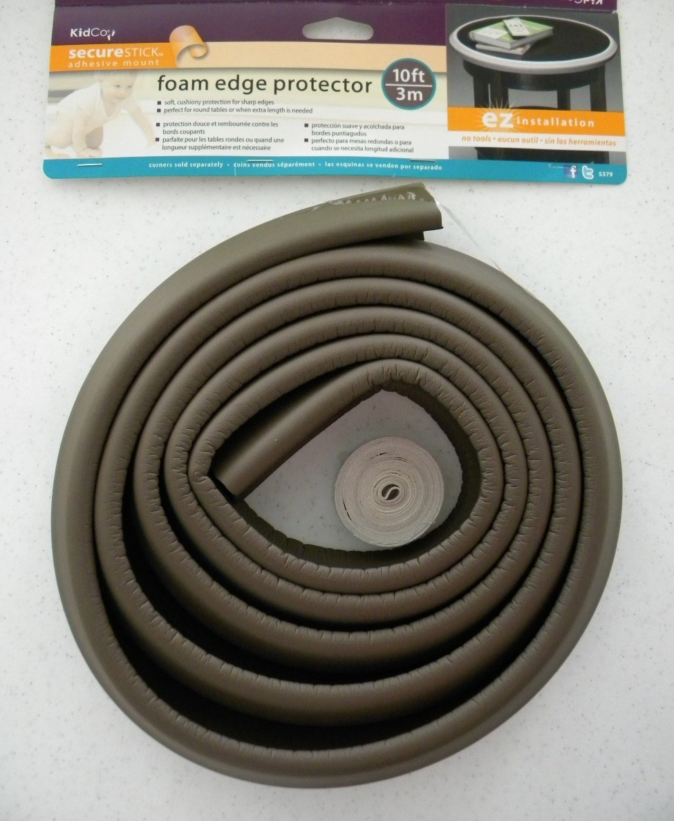KidCO Foam 10 Count Edge Protector, Brown