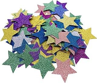 Toyvian 100pcs Star Confetti Glitter Star Table Confetti Paper Stars for Party Wedding Festival Decorations (Random Color)