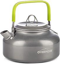 Overmont Camping waterkoker ketel theepot koffiepot draagbare aluminium FDA goedgekeurd voor outdoor picknick wandelen 0,8 I