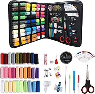 Sewing Kits for Adults Beginners: 112PCS Basic Hand Sewing Kit for Emergency Summer Campers Travel and Home, with Scissors,Thimble,Thread,Needle Kits