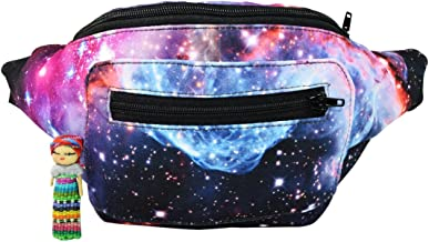 Galaxy Fanny Pack, Space Party Boho Chic Handmade with Hidden Pocket
