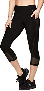 RBX Active Women's Yoga Workout Leggings Eyelash Black M