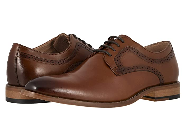 1920s Boardwalk Empire Shoes Stacy Adams Dickens Cognac Mens Shoes $59.97 AT vintagedancer.com