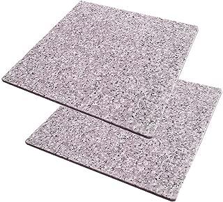 【2枚セット】ペットさん大喜び♪ 魔法の天然石ひんやりマット(ベッド) 涼しげ・かわいいピンクバージョン 40×40×1.3センチ ほど良い涼しさにペットうっとり♪ 暑い夏に洗えるクールなマット 安心の日本製。【耐久性抜群の御影石A級品です】大自然の原石から1枚ずつ丁寧に加工してます。G400-P02