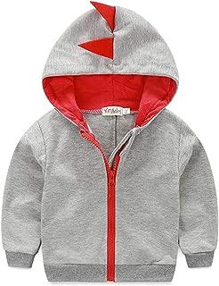 Dealone Baby Boys Long Sleeve Dinosaur Jacket Clothes Toddler Zip-up Hoodies Sweatshirt