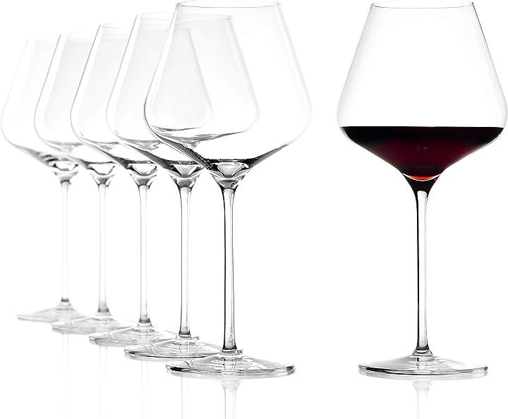 bicchieri da vino stölzle lausitz burgundy quatrophil bordeaux 708 ml 25 cm h 6 unità 231 00 00
