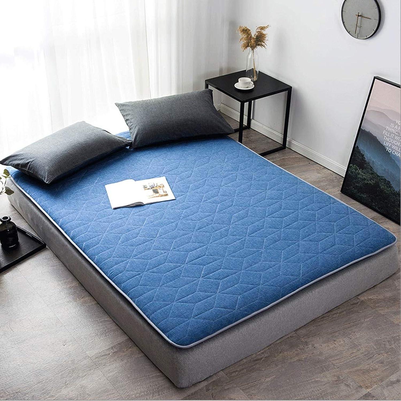 Cotton Mattress, Double Sponge Pad, Comfortable and Breathable Foldable Cushion G (color   B, Size   90x200cm)