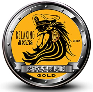 Sponsored Ad - Bossman Relaxing Beard Balm – Tame - Thicken - Protect your beard. Made in USA (Gold Scent)