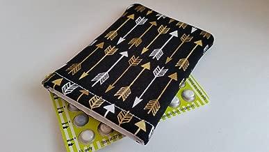 Birth Control Pill Case Sleeve- Golden Arrows