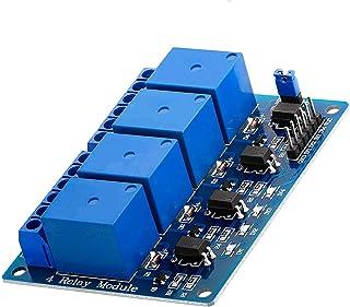 AZDelivery Modulo Relay a 4 canali 5V con optoaccoppiatore Low-Level-Trigger compatibile con Arduino incluso un Ebook!