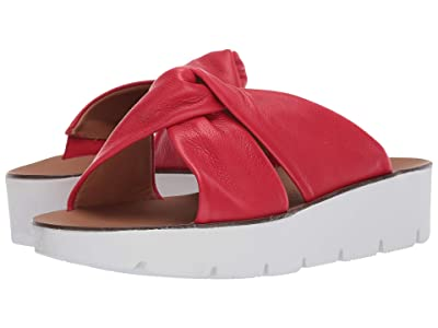 Paul Green Alicia Wedge (Red Leather) Women