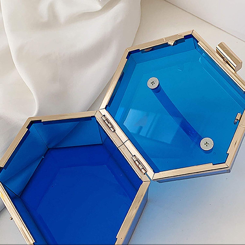 Xuebai Clear Purse Acryl Box Abend Clutch Bag Handtasche f/ür Frauen Acryl Handtasche Blau