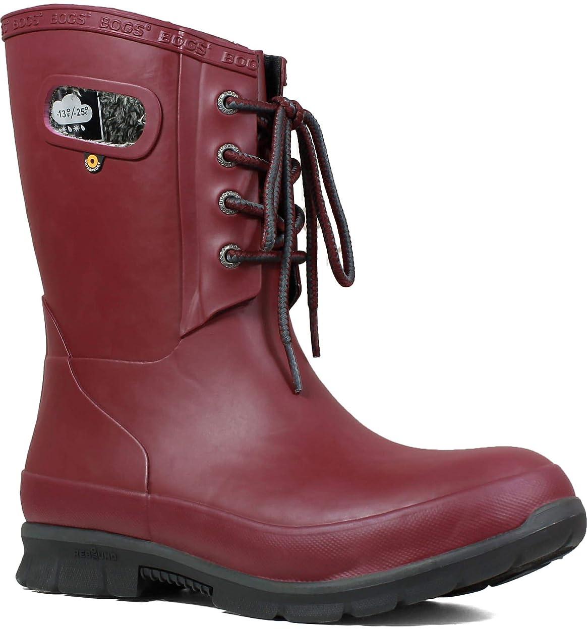 堤防円形変更可能[ボグス] レディース ブーツ&レインブーツ Amanda Plush Waterproof Rain Boot ([並行輸入品]