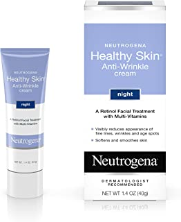 Neutrogena Healthy Skin Anti-Wrinkle Retinol Night Cream Treatment with combination of Pro-Vitamins B5, Vitamin E and Special Moisturizers, 1. 4 oz
