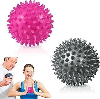 Ealicere 2 piezas Sport Bolas de Masaje, Bolas deMasaje de Punta Spiky de Masaje con pinchos para dolores musculares, Herr...