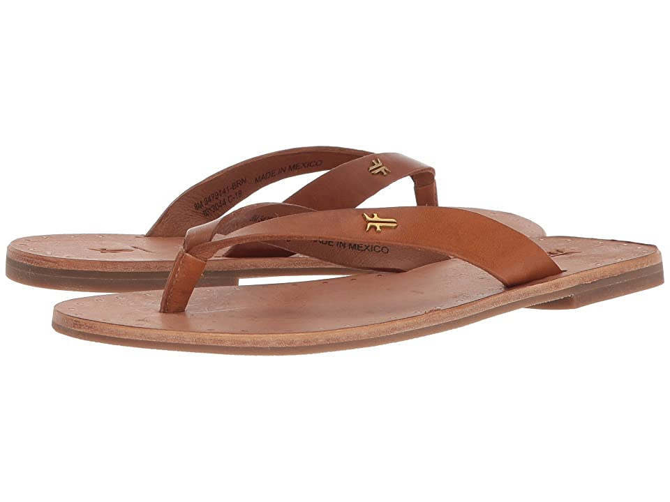 Frye Ally Logo Flip-Flop (Brown) Women
