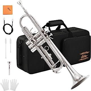 Eastar ETR-380N Trumpet Standard Bb نیکل ترمکت مجموعه برای مبتدیان با مورد سخت، دستکش، 7 C قوس، روغن دریچه و کیت تمیز کردن لوله
