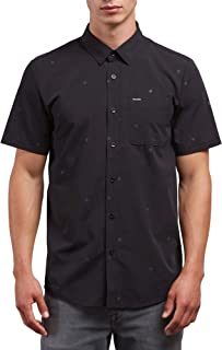 Volcom Men's Bleeker Short Sleeve Button Up Shirt