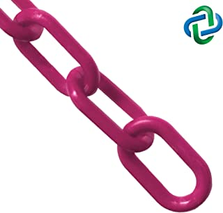 Mr. Chain Plastic Barrier Chain, Magenta, 2-Inch Link Diameter, 25-Foot Length (50018-25)