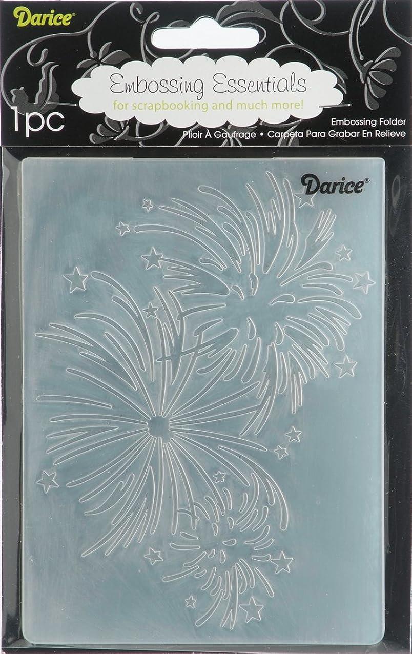 Darice 1217-60 Embossing Folder, 4.25 by 5.75-Inch, Fireworks Design gloneubkvlktd385