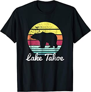 Vintage Retro Lake Tahoe California USA Bear T Shirt