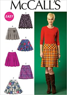 McCall's Patterns M7022 Misses' Skirts, A5 (6-8-10-12-14)