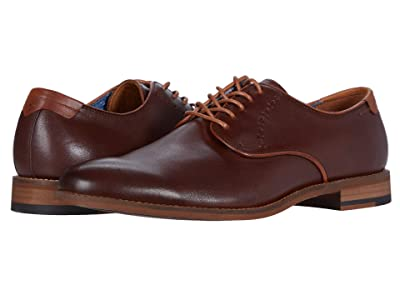 Johnston & Murphy Milliken Plain Toe (Mahogany Full Grain) Men