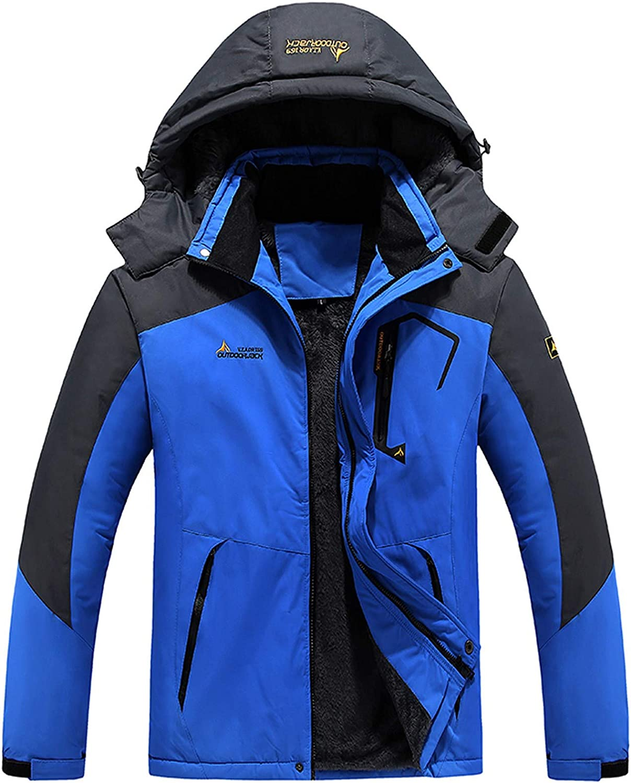 Huangse Men's Hooded Waterproof Jacket Lightweight Rain Jacket Running Jacket Outdoor Shell Sportswear for Hiking Travel