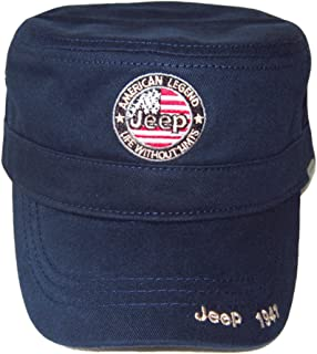 Jeep Embroidered US Army Cadet Military Hats Twill Army Corps Cap Flat Top Hat Outdoor Sports Cap Hat