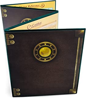 Stratagem The Master's Tome 4-Panel Customizable GM Screen with Free Inserts – Dry Erase, Dungeon & Game Master Accessory for Tabletop RPG Campaigns (Green)