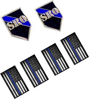 Police Pin - SRO School Resource Officer Lapel Pin Thin Blue Line Shield Shaped Pin
