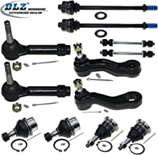 DLZ 12 Pcs Front Suspension Kit-Upper Lower Ball Joint Inner Outer Tie Rod End Sway Bar Pitman Arm Idler Arm Compatible with Cadillac Escalade Replacement for Chevy Tahoe Silverado Sierra 1500 Yukon