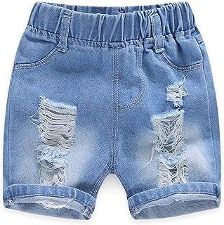 ZL4CH Toddler Boys 4T Blue Jean Shorts Ripped Denim Bottom
