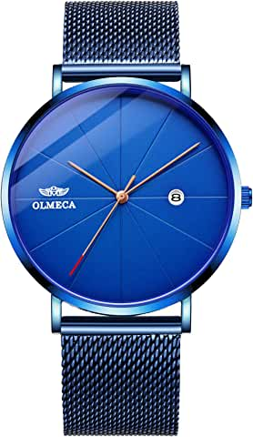Olmeca Men's Blue Quartz Watch for Men & Women
