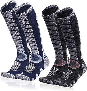 Ski Socks for Men Women Snowboarding Socks Skiing Calf Socks Winter Long Socks