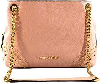 2d2403d363e8a9 Michael Kors Jet Set Item Women's Medium Chain Messenger Leather Shoulder Bag  Purse Handbag