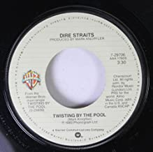 DIRE STRAITS 45 RPM TWISTING BY THE POOL / BADGES, POSTERS, STICKERS, T-SHIRTS